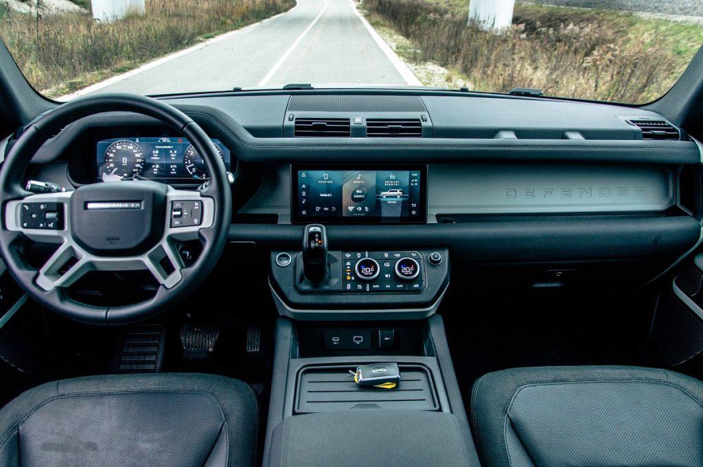 Palubná doska nového modelu Land Rover Defender